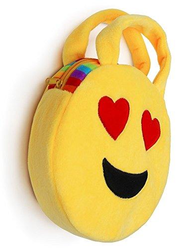 Cute Emoji Plush Zippered Handbag Novelty Party Favor (2) (Pocketbooks Under 10)