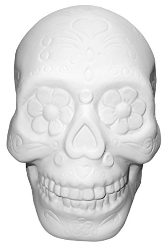 Sugar Skull Bank - Paint Your Own Ceramic Keepsake by New Hampshire Craftworks