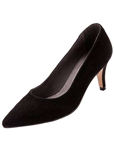 De Mujer Negro Con Alto Piel Balsamik Tac¢n Zapatos U7Y5q5