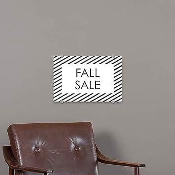 CGSignLab Stripes White Premium Brushed Aluminum Sign 36x24 Fall Sale