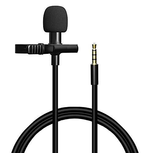 Lavalier Lapel Microphone Professional Grade Omnidirectional Mic with Easy Clip On System  Perfect for Recording Youtube, Interview, Video Conference, Podcast, Voice Dictation (1 Mic Set)