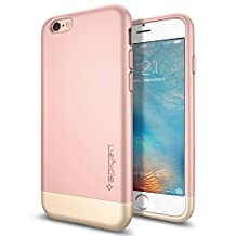 iPhone 6s Case, Spigen® [Style Armor] Safe Slide [Rose Gold] SOFT-Interior Scratch Protection Metallic Finished Dual Layer Case for iPhone 6s (2015) - Rose Gold (SGP11724) (Discontinued by Manufacturer)