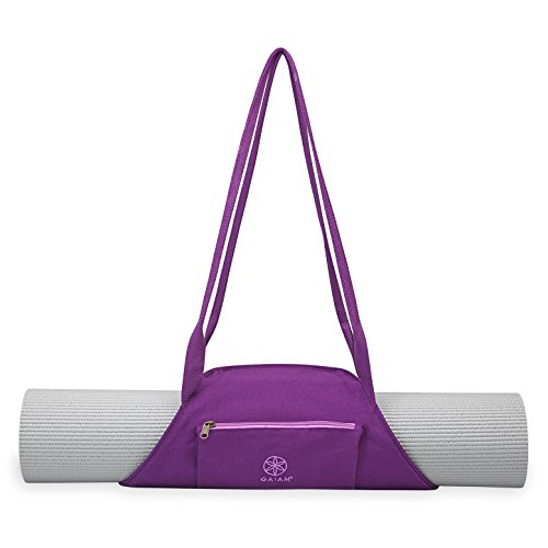 Gaiam On-The-Go Yoga Mat Carrier, Sparkling Grape