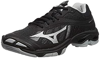 Mizuno Wave Lightning Z4 Volleyball Shoes Footwear Womens, Black-Silver, 6 B US