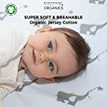 My-Little-North-Star-Crib-Sheets-100-Organic-Jersey-Cotton-2pk-Unisex-Grey-Best-for-boy-or-Girl
