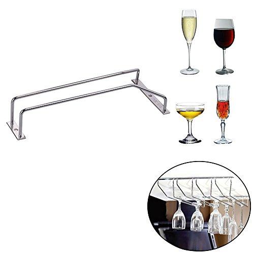 metal and glass wine rack - 9