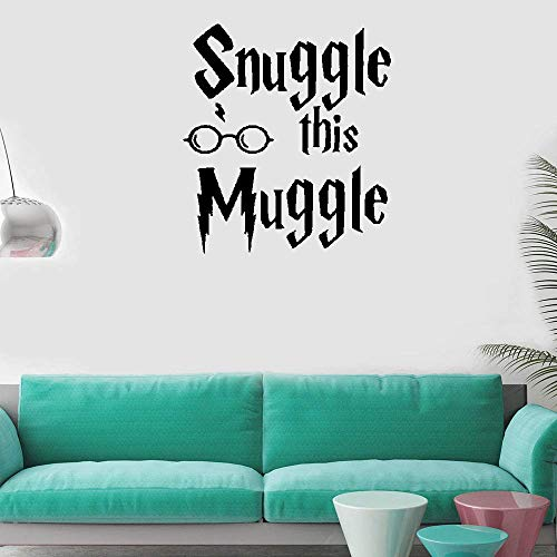 Liutaz Vinyl Removable Wall Stickers Mural Decal Art Snuggle This Muggle