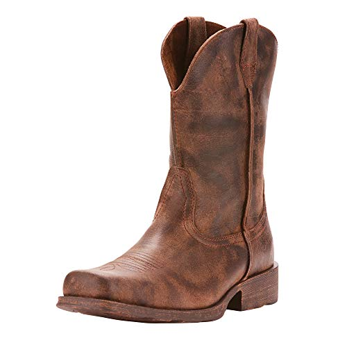 Wild West Boot Store (Ariat Men's Rambler Western Boot, Antiqued Grey, 10 2E)
