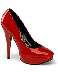 5 1/2 Inch Classic Pump Shoes Red White or Black Pumps Mini Platform