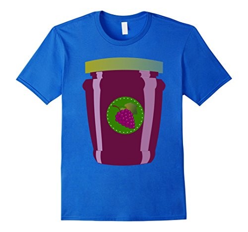 [Mens Jelly Funny Food Halloween T-Shirt Medium Royal Blue] (Peanut Butter And Jelly Costumes Homemade)