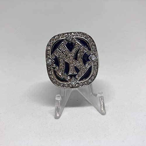 2009 New York Yankees Derek Jeter World Series High Quality Replica Ring Size 10.5-Silver Colored