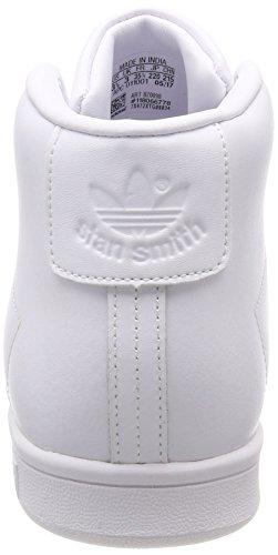 adidas Stan Smith Mid J, Zapatillas de Deporte Unisex Adulto Blanco (Ftwbla/Ftwbla/Ftwbla 000)