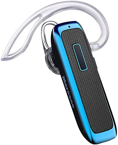 Bluetooth Headset, Wireless Bluetooth Earpiece w/ 18 Hours Playtime and Noise Cancelling Mic,Ultralight Earbud Headphone Hands-Free Calls for iPhone Tablet Samsung Android Cell Phone Truck Driver