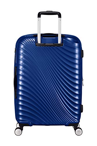 Jetglam size Cm 2368 67 American 122817 Tourister Blue Metallic Black Medium black With Metallic Suitcase Wheels 8YWTg51qSg