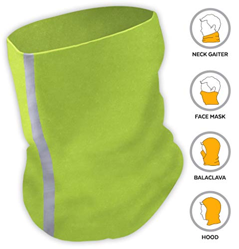 UV Face Mask - Neck Gaiter for Dust & Sun Protection - Face Cover/Scarf for Fishing, Hiking, Cycling & ATV Riding - UPF 30 Breathable Summer Balaclava - Moisture Wicking 12-in-1 Headwear