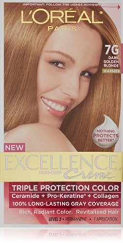 L'Oreal Excellence #7G Dark Gold Blonde Hair Color, 1 ct -  71249210666
