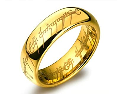Yellow Chimes Lord of the rings stainless steel 18K Gold