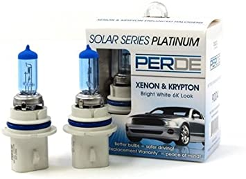 Amazon Com Perde Xenon 9007 Headlight Light Bulbs Diamond White 6000k For 97 03 Ford F150 Automotive