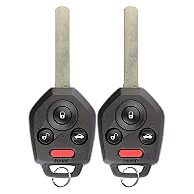 For 11-14 Subaru Legacy, 11-14 Outback Keyless Entry Remote Key Fob 3btn 4D-60 Chip CWTB1U811-2 PACK: Automotive