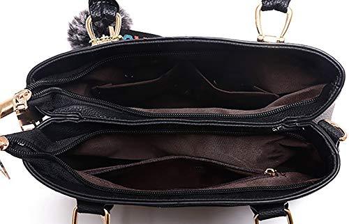 de de bolsos Bolsos Mujer hombro Carteras bandolera clutches y mano Fekete y Shoppers q8nxxtZ