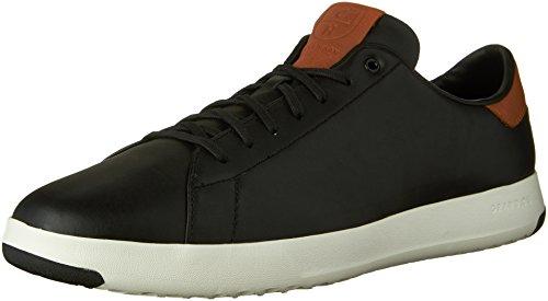 Cole Haan Men's Grandpro Tennis Fashion Sneaker, Black/British Tan, 11 M US -