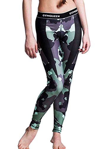 Camouflage Imprimé Couleur Élastique Legging Pantalon Bigood Slim Longue Sport z7Pnq