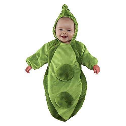 Hyde and Eek! Boutique - Peapod Bunting Unisex Infant Halloween Costume (0-6 Months) Green]()