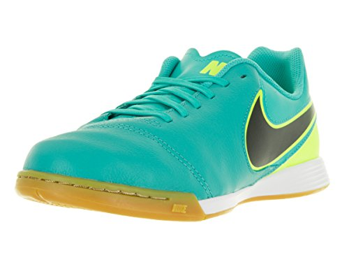 Nike Kid's JR Tiempo Legend VI IC, CLEAR JADE/BLACK-VOLT,...