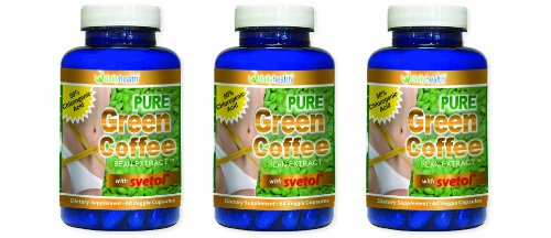 Green Coffee Bean Extract Pure 800 mg with Svetol 60 capsules Dietary Supplement 3 bottle pack Review