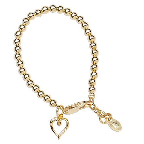 Childrens Gold plated Bracelet Heart Charm product image