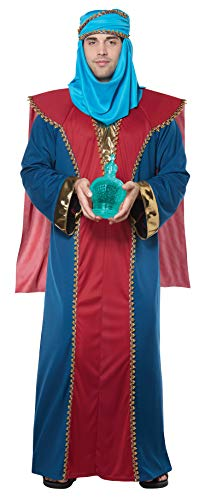 (California Costumes Men's Balthasar, Wise Man (Three Kings) - Adult Costume Adult Costume, -Red/Blue,)
