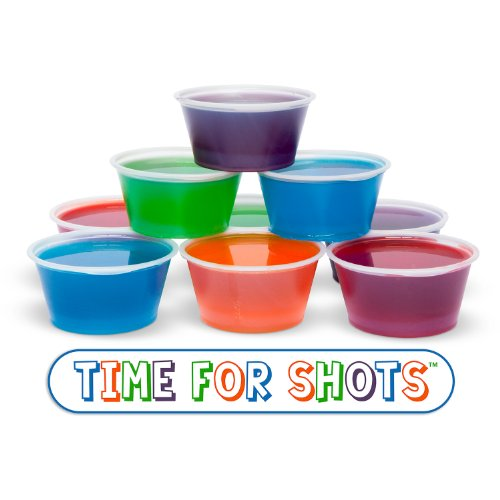 Best Jello Shot Cups for Your Next Party Everyone Will Be Talking About It! by TIME FOR SHOTS Make Vodka, Tequila, Margarita, Rum, Champagne and Even Strawberry Jello Shots and Shooters! Works With Every Recipe! No Need for Expensive Injectors, Syringes or Molds! - No Risk 100% Satisfaction Guarantee ()