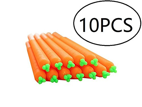 Carrot Design Gel Pens for Nurse Doctor Pen Friends Or Student Stationery Gift Easter Party Favor,10 Pieces,Assorment ()