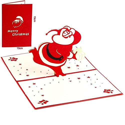 PyLios - New Year Christmas Decorations Tree 3D pop up Greeting Card Laser Cutting Envelope Postcard Hollow Carved Handmade kirigami Gift [ 1902 ]