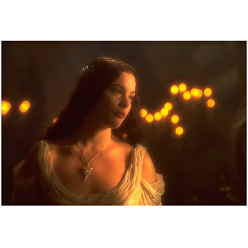 The Lord of the Rings: The Return of the King 8x10 Photo Liv Tyler a Vision in White by Candlelight kn (Tyler Candles Hollywood)