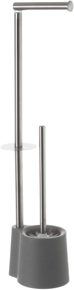 Escobillero portarrollos de baño de Acero Inoxidable Gris Minimalista para Cuarto de baño Factory - LOLAhome