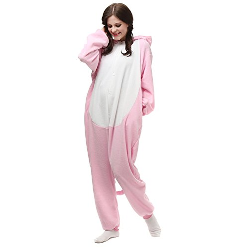 Onesie Adult Pink Pig Animal Pajamas Cosplay Sleepwear Bear Cartoon Christmas -
