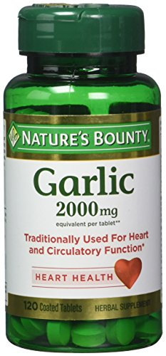 Nature's Bounty Garlic 2000mg, Tablets 120 ea (Pack of ()