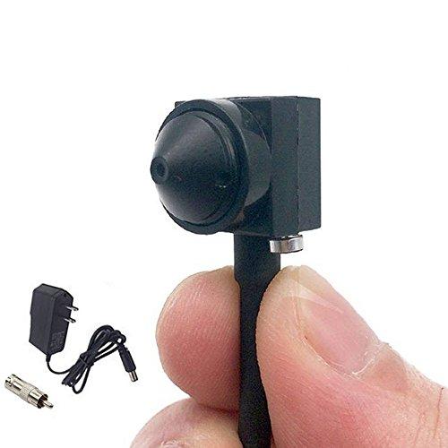 (TPEKKA Small Spy Hidden Camera Micro Mini Pinhole Convert Camera HD 1000TVL Micro Portable CCTV Wired Spy Cameras for Indoor Outdoor Home Surveillance System DVR FPV)