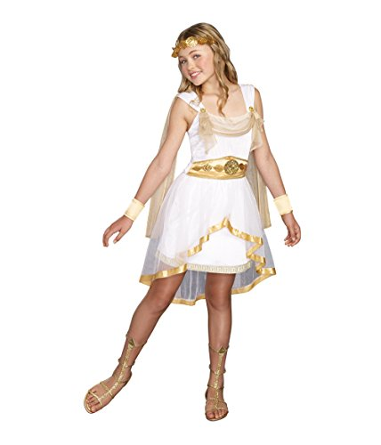 SugarSugar Girls Miss Olympian Costume, One Color, X-Large, One Color, X-Large (Roman Girl Costume)