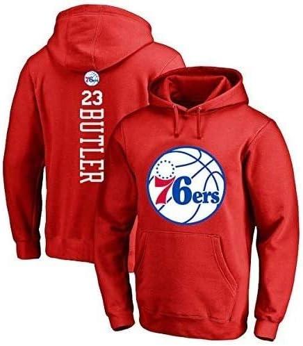 バスケットボールパーカーNBAジミーバトラー#23フィラデルフィア76ersスポーツジャケットバスケットボールジャージスウェットシャツトップス (Color : Red, Size : XX-Large)