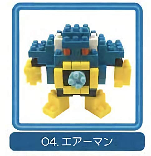 Figure Capsule Action Toys (Kawada Nanoblock ×Rockman Mega Man Air Man Gacha Character Capsule Toy Mini Figure Collection Anime Art)