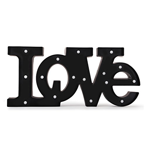 Sweet Love Letters (DecentHome Decorative Plastic LED Letters Light LOVE Marquee Sign Decor)