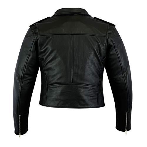 Eu 50 Femme Moto Cuir Veste Qualité De Supérieure nxz0qn6YW