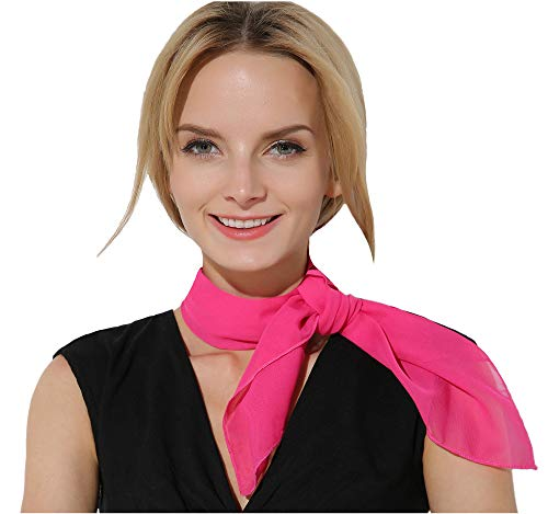 (Pink Scarf Poodle Skirt 50s Scarf Hair Scarf 50s Accessories for Women)