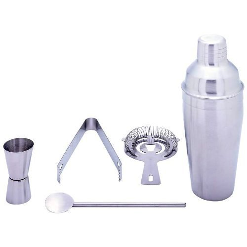 HealthPro Stainless Steel 5-Piece Cocktail Martini Shaker Set