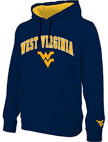 NCAA West Virginia Mountaineers Blue Embroidered College Classic Hoodie Sweatshirt (M=40) ()