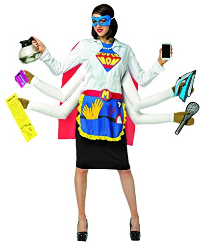 Costume Mom Et (Rasta Imposta Women's Super Mom, Multi, One)