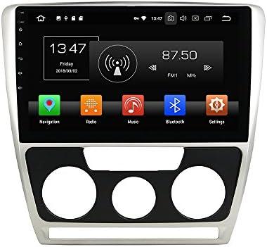KUNFINE Android 9.0 8核自動車GPSナビゲーション マルチメディアプレーヤー 自動車音響 スコダ SKODA Octavia 2007 2008 2009 自動車ラジオハンドル制御WiFiブルースティスト
