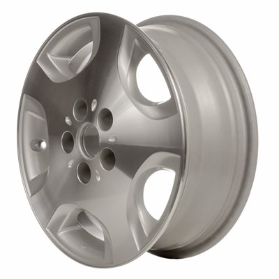 MAPM Premium ALLOY WHEEL; 16 X 6; 5 SPOKES; 5 LUG; 4.5 INCH BP; MACHINED WITH